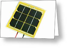 Solar Cell Greeting Card by Friedrich Saurer