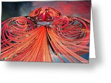 Solar Flare Greeting Card by Michael Durst