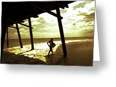 Solar Surf Greeting Card by Jan Lakey