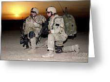 Soldiers Call In Air Support Greeting Card by Stocktrek Images
