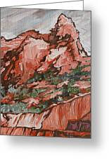 Soldiers Pass Trail Greeting Card by Sandy Tracey