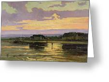 Solitude In The Evening Greeting Card by Marie Joseph Leon Clavel Iwill