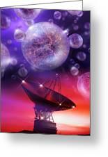 Solving The Universe's Mysteries, Artwork Greeting Card by Detlev Van Ravenswaay