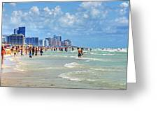 South Beach Greeting Card by Dieter  Lesche