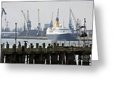 Southampton Old Pier And Docks Greeting Card by Jane Rix