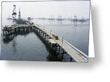 Soviet Caspian Sea Oil Fields, 1978 Greeting Card by Ria Novosti