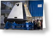 Space Capsule Greeting Card by Mark Williamson