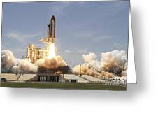 Space Shuttle Atlantis Lifting Greeting Card by Stocktrek Images