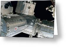 Space Shuttle Discovery And Components Greeting Card by Stocktrek Images