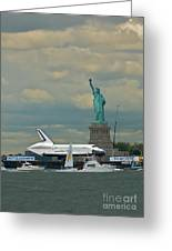 Space Shuttle Enterprise 2 Greeting Card by Tom Callan