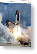 Space Shuttle Launching Greeting Card by Stocktrek Images