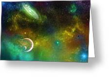 Space001 Greeting Card by Svetlana Sewell