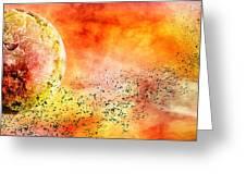 Space013 Greeting Card by Svetlana Sewell