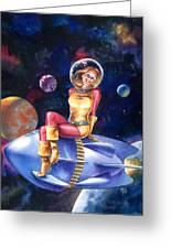 Spacegirl Greeting Card by Ken Meyer jr