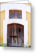 Spanish Fort Door Castillo San Felipe Del Morro San Juan Puerto Rico Prints Greeting Card by Shawn O'Brien