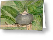 Sparrow And Ginger Greeting Card by Marian Hebert