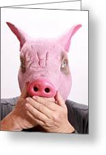 Speak No Swine Flu Greeting Card by Michael Ledray