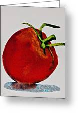 Speckled Tomato Greeting Card by Jani Freimann