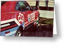 Speedway Camaro II Greeting Card by Malania Hammer