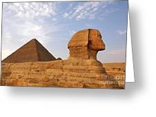 Sphinx Of Giza Greeting Card by Jane Rix