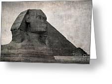 Sphinx Vintage Photo Greeting Card by Jane Rix