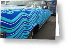 Spin A Yarn Car Greeting Card by Kym Backland