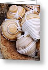 Spinning Tops Greeting Card by Carlos Caetano