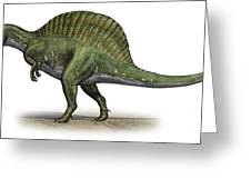 Spinosaurus Aegyptiacus, A Prehistoric Greeting Card by Sergey Krasovskiy