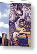 Spirit Of Healing Mural San Antonio Texas Greeting Card by John  Mitchell