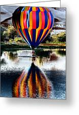 Splash And Dash With A Hot Air Balloon Greeting Card by David Patterson