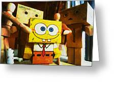 Spongebob Always Loves The Group Hugs Greeting Card by Steve Taylor