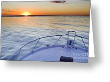 Sportfish Sunrise On The Atlantic Greeting Card by Dustin K Ryan