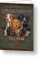 Sporting Dog Traditions Greeting Card by JQ Licensing