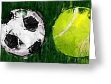 Sports Balls Abstract Greeting Card by David G Paul