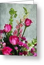 Spray Of Flowers Greeting Card by Judi Bagwell