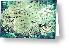 Spring Blooms Greeting Card by Mira Dimitrijevic
