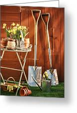 Spring Gardening Greeting Card by Amanda And Christopher Elwell