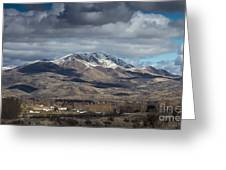 Spring Snow Greeting Card by Robert Bales