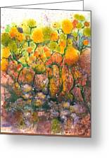 Spring Time Flowers Greeting Card by Audrey Peaty