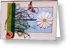 Springdaisy Greeting Card by Gracies Creations