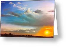 Springfield Sunset Greeting Card by Prashant Shah