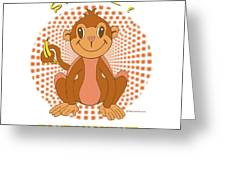 Spunky The Monkey Greeting Card by John Keaton