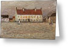 Square - Fort-philippe Greeting Card by Henri Eugene Augustin Le Sidaner