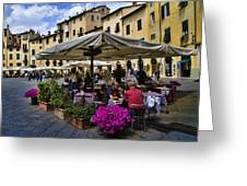 Square Amphitheater In Lucca Italy Greeting Card by David Smith