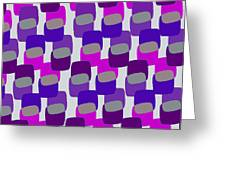 Squares Greeting Card by Louisa Knight