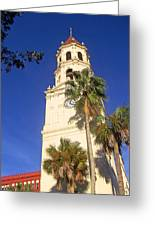 St. Augustine Church Clock Tower Greeting Card by Patricia Taylor