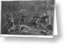 St Bartholomews Massacre Greeting Card by Granger