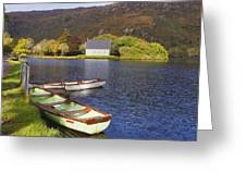 St. Finbarres Oratory And Rowing Boats Greeting Card by Ken Welsh