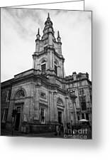 St Georges-tron Church Nelson Mandela Place Glasgow Scotland Uk Greeting Card by Joe Fox