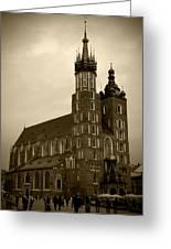 St. Mary's Basilica Greeting Card by Kamil Swiatek